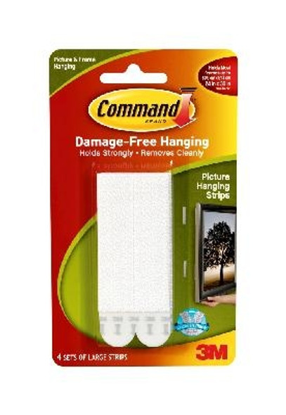 Command Large Picture Hanging Strips - White, 16 lbs
