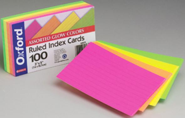 """Brites Index Cards - Neon, 3x5"""""""
