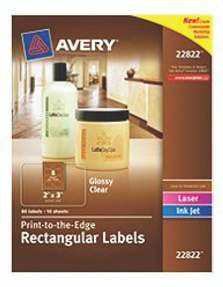 """Rectangular Labels - Clear/Glossy, 2x3"""""""