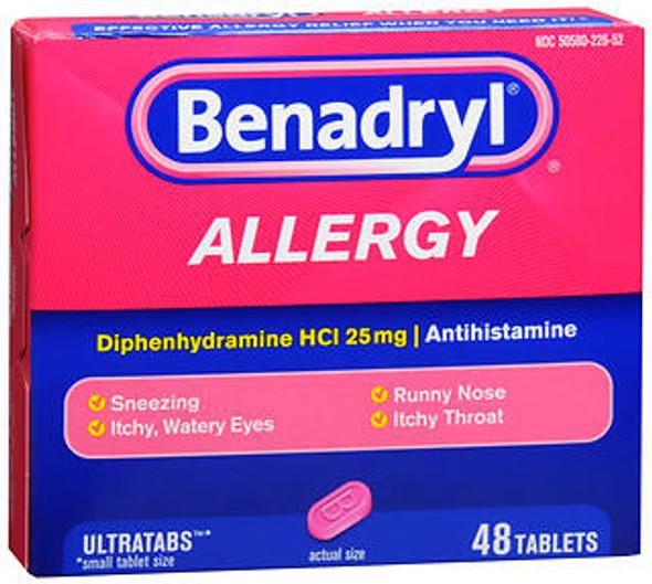 Benadryl Allergy Ultratab Tablets - 48 ct