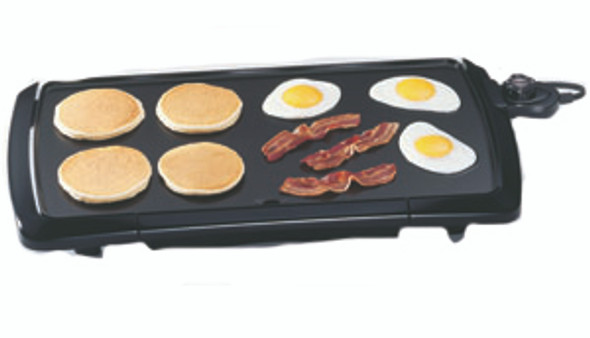 """Presto Cool Touch Electric Griddle Small Appliance - 10.5x20.5"""", Black"""