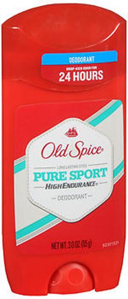 Old Spice High Endurance Deodorant Long Lasting Stick Pure Sport - 3 oz