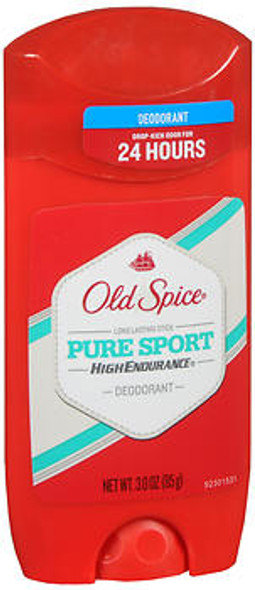 Old Spice High Endurance Deodorant Long Lasting Stick Pure Sport - 3 oz