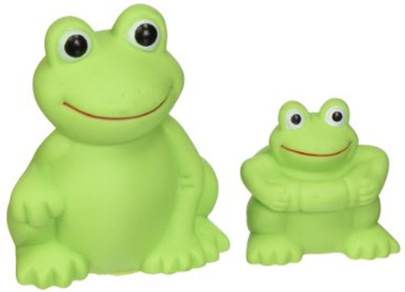 Floating Frog Bath Toys - Green, 2 pk