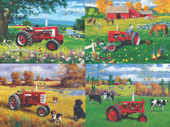 Farmall 4-pack Puzzles - 500 pc