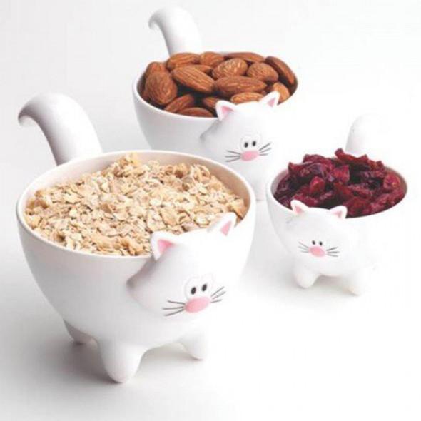 "Cat ""Meow"" Measuring Cups - Asst, 3 pc"
