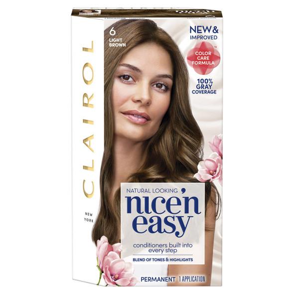 Clairol Nice 'n Easy Permanent Haircolor 6 Light Brown