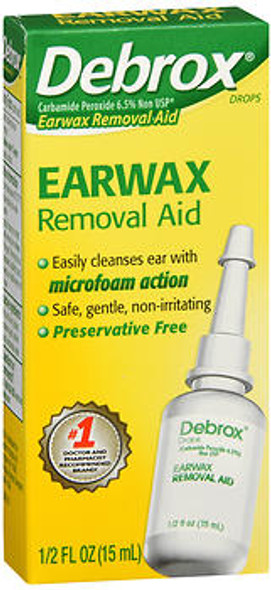 Debrox Earwax Removal Aid Drops - 0.5 oz