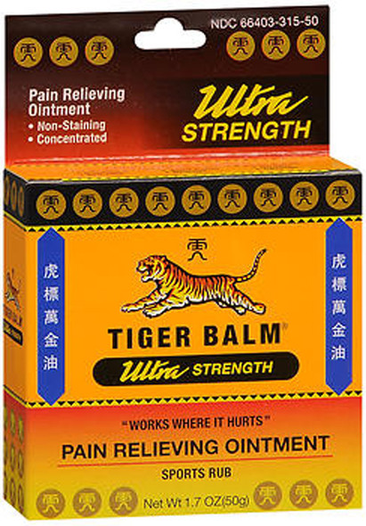 Tiger Balm Pain Relieving Ointment Ultra Strength - 1.7 oz