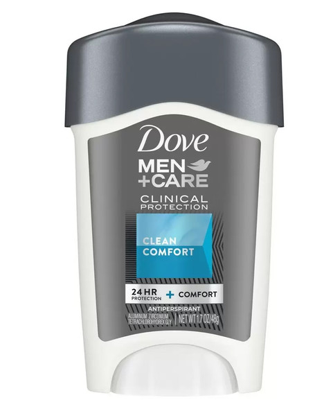 Dove Men+Care Clinical Protection Antiperspirant Deodorant Solid Clean Comfort - 1.7 oz