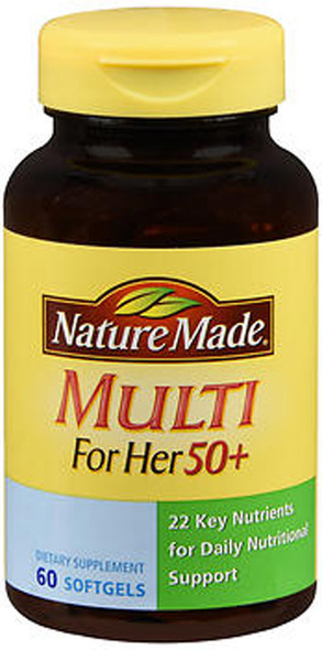Nature Made Multi For Her 50+ Softgels - 60 ct