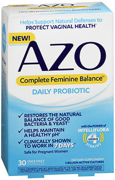 Azo Complete Feminine Balance Daily Probiotic Capsules - 30 ct