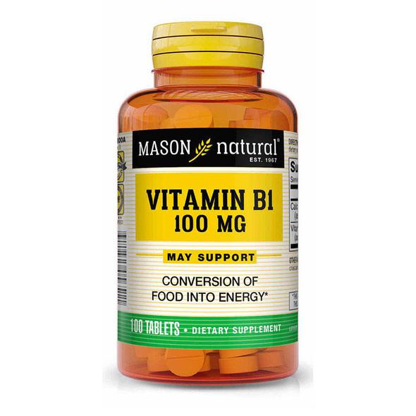 Mason Natural B-1 100 mg - 100 Tablets