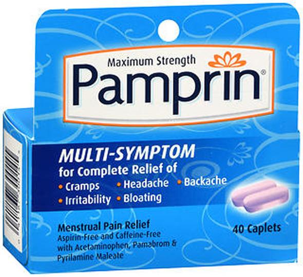 Pamprin Multi-Symptom Menstrual Pain Relief Caplets - 40ct