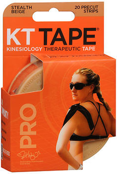 KT Tape Kinesiology Therapeutic Tape Pro Strips Stealth Beige - 20 Strips