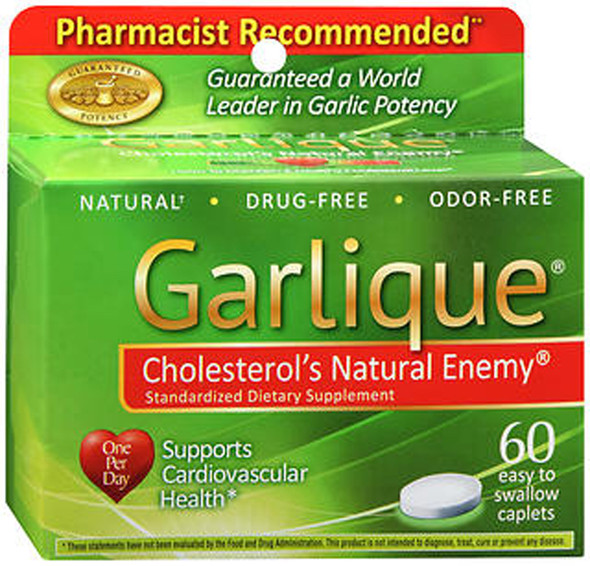 Garlique Standardized Dietary Supplement Caplets - 60ct