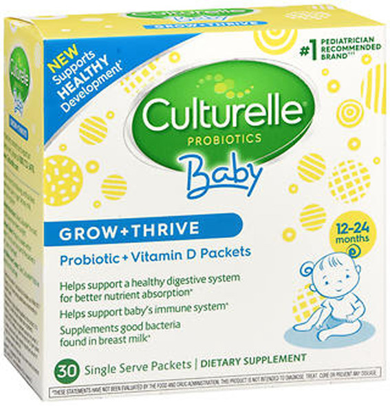 Culturelle Baby Grow + Thrive Probiotics + Vitamin D Packets - 30 ct