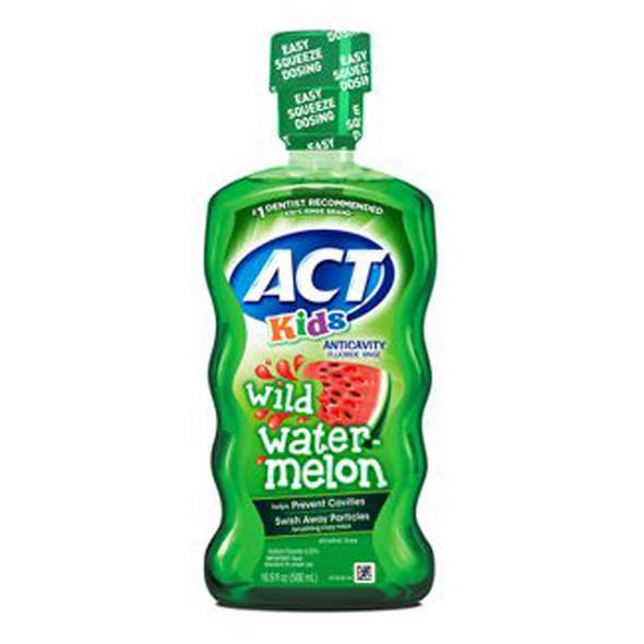 ACT Kids Anticavity Fluoride Rinse Watermelon - 16.9 oz