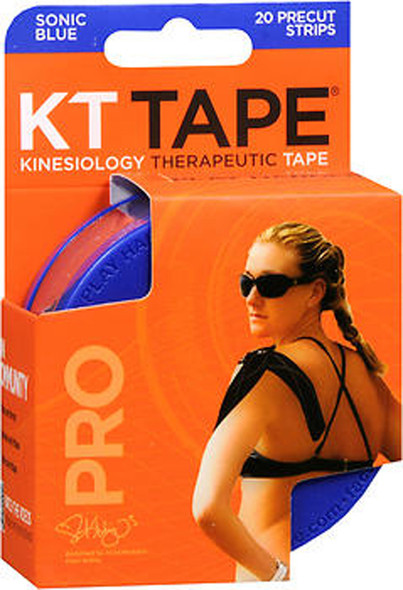 KT Kinesiology Therapeutic Tape Pro Strips Sonic Blue - 20 Strips