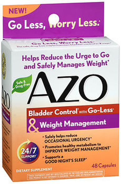 Azo Bladder Control with Go-Less & Weight Management Dietary Supplement Capsules - 48 ct
