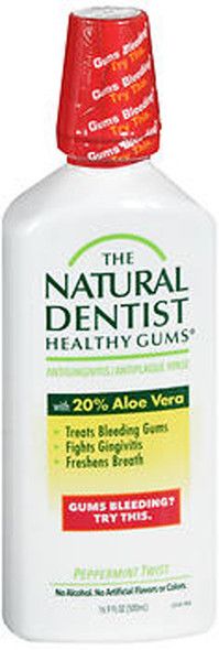 The Natural Dentist Healthy Gums Antigingivitis Mouth Rinse Peppermint Twist - 16.9 oz