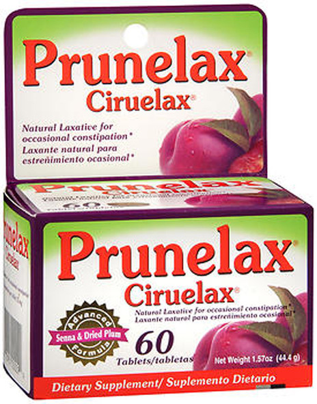 Prunelax Ciruelax Dietary Supplement Tablets - 60 ct