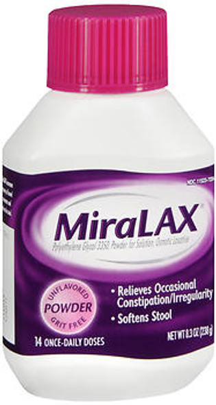 MiraLAX Laxative, Unflavored Powder  8.3 oz