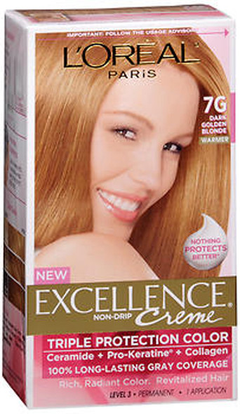 L'Oreal Excellence Creme - 7G Dark Golden Blonde (Warmer)