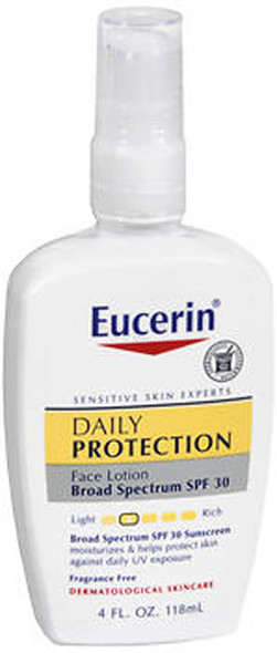 Eucerin Daily Protection Face Lotion Moisturizing SPF 30 - 4 oz