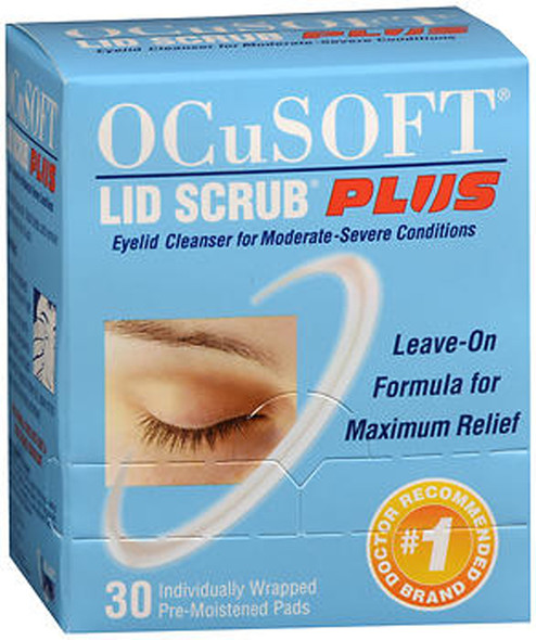 Ocusoft Lid Scrub Plus Eyelid Cleanser Pre-Moistened Pads - 30 ct