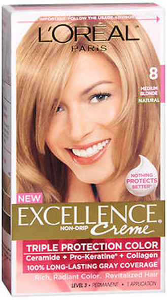 L'Oreal Excellence Creme - 8 Medium Blonde (Natural)