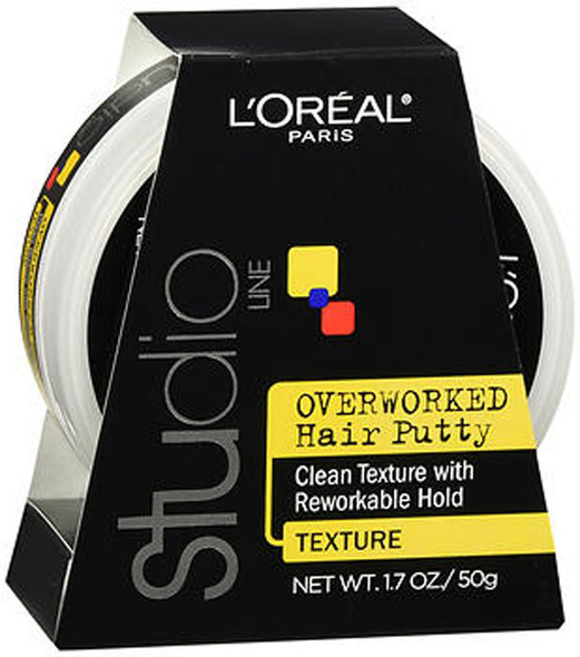 L'Oreal Studio Line Overworked Hair Putty - 1.7 oz