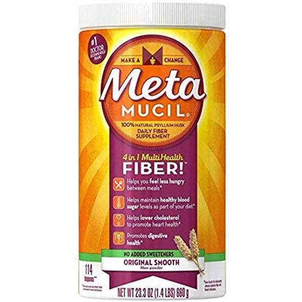 Metamucil 4 in 1 Multihealth Powder Sugar-Free Unflavored - 23.3 oz
