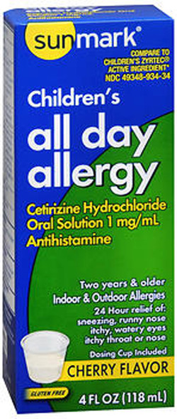 Sunmark Children's All Day Allergy Oral Solution Cherry - 4 oz