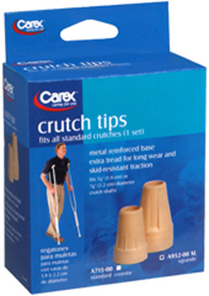 Carex Crutch Tips X-Large, 1 Set