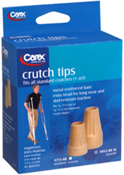 Carex Crutch Tips X-Large, 1 Set