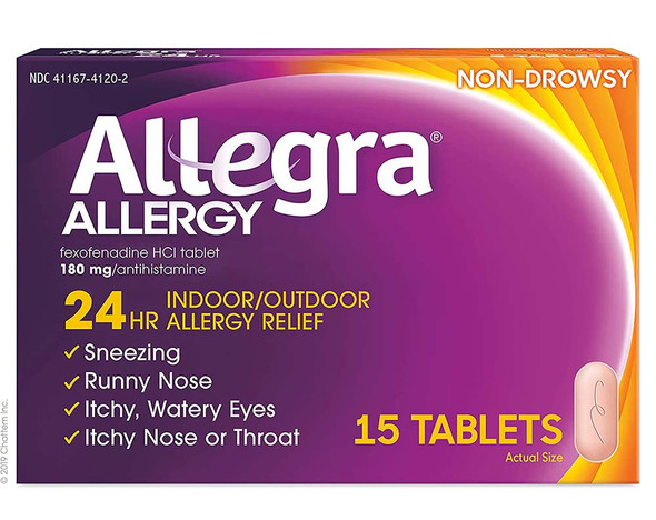 Allegra Allergy 180 mg Tablets 24 Hour - 15 Ct.