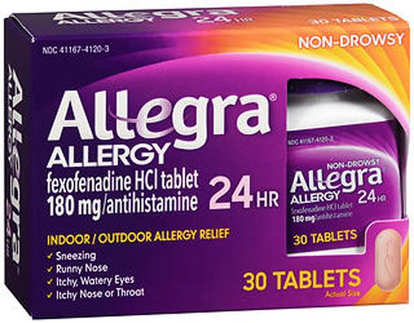 Allegra 24-Hour Allergy Relief - 30 Ct.