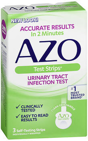 AZO Urinary Tract Infection Test Strips - 3 ct