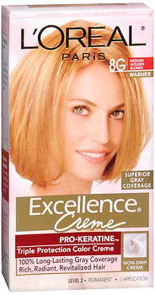 L'Oreal Excellence Creme - 8G Medium Golden Blonde (Warmer)