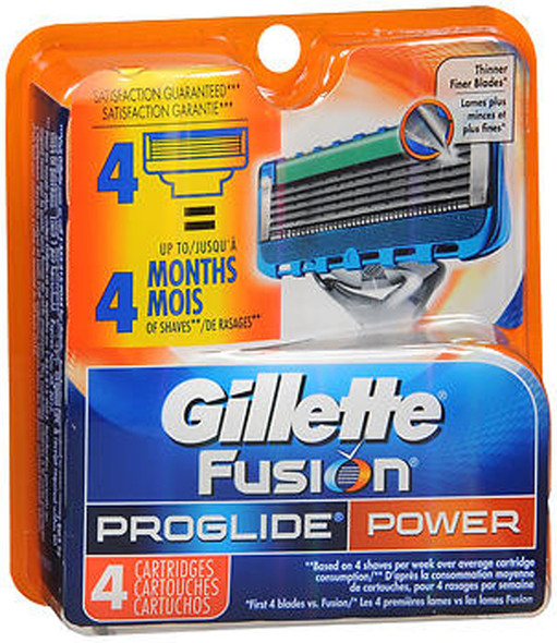 Gillette Fusion ProGlide Cartridges Power - 4 Ct.