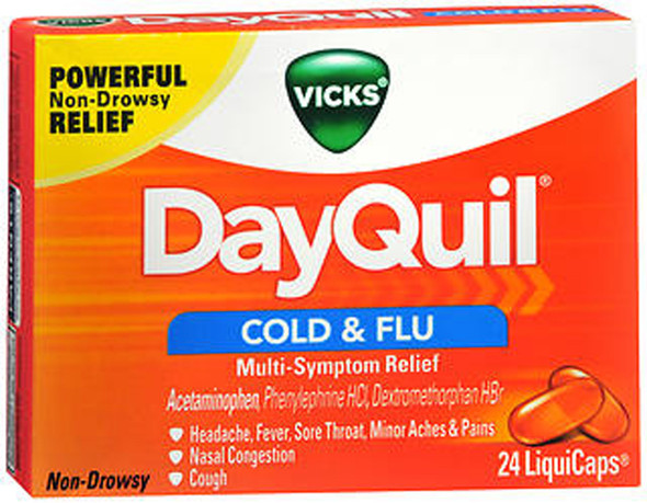 Vicks DayQuil Cold & Flu LiquiCaps - 24 Ct.
