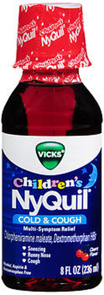 Vicks NyQuil Children's Cold & Cough Liquid Cherry Flavor - 8oz