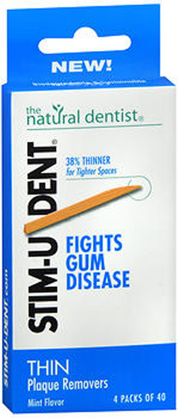 The Natural Dentist Stim-U-Dent Thin Plaque Removers Mint Flavor - 160 Ct.