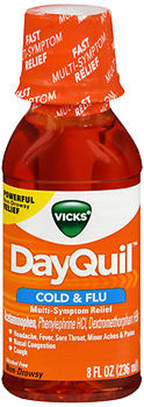 Vicks DayQuil Cold & Flu Liquid - 8 oz
