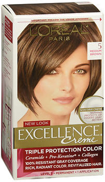 L'Oreal Excellence Creme - 5 Medium Brown (Natural)