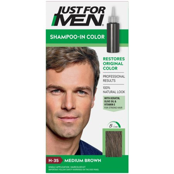 Just For Men Original Formula Haircolor Medium Brown H-35 - 1 ea.
