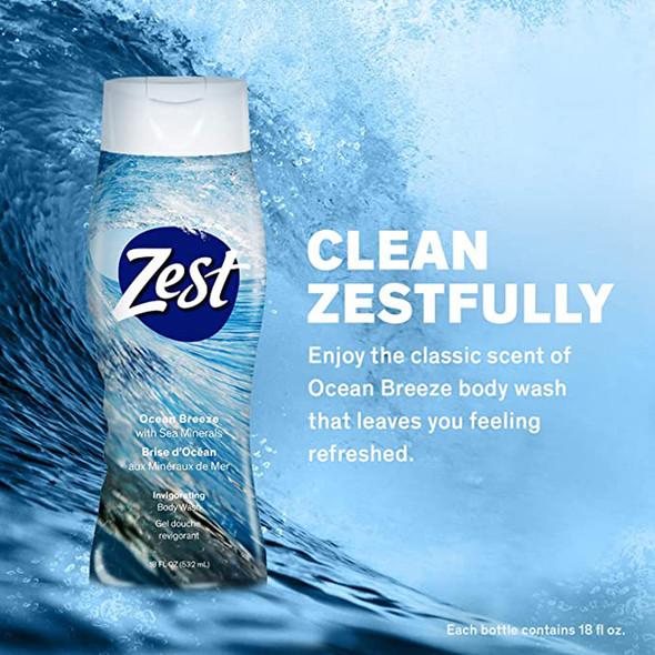 Zest Body Wash Ocean Breeze - 18 oz