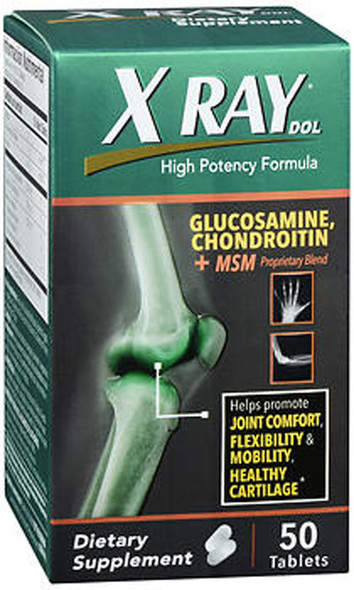 X Ray Dol Glucosamine Chondroitin + MSM Tablets - 50 ct