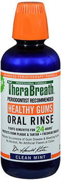 TheraBreath Healthy Gums Oral Rinse Clean Mint - 16 oz